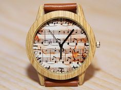 Wristwatch notes watches for musicians watches for singer