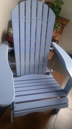 Gartenstuhl in blau , aus Holz in Nordrhein-Westfalen - Monheim am Rhein | eBay Kleinanzeigen