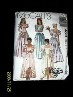 Vintage 1990 McCalls 4681 Formal Fashion Gown by TheSewingDen, $6.00