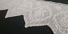 Crochet Curtains, Crochet Doilies, Shades Of Beige, Grey Scarf, Vintage Tablecloths, Window Dressings, Round Tablecloth, Alpaca Wool, All White
