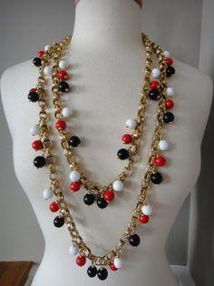 Vintage Chanel matelasse link 2-strand gripoix necklace
