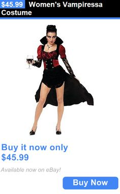 Halloween Costumes: Womens Vampiressa Costume BUY IT NOW ONLY: $45.99