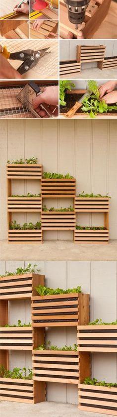 Jardín vertical DIY / Via http://www.manmadediy.com/