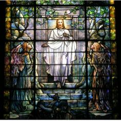 Tiffany stained glass windows at Calvary United Methodist Church in West Philadelphia