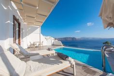 Relax and take in the view at Santorini Secret Suites and Spa