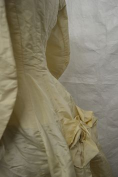 A wedding dress made by Bateson and Johnson of Blackburn in 1878. Collection: Royal Pump Room/Harrogate Museum.