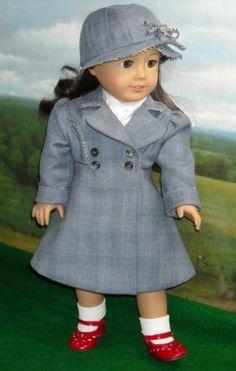 Gray Coat for Spring | by kmkdollshop via eBay ends 2/9/14  Bid $34.99