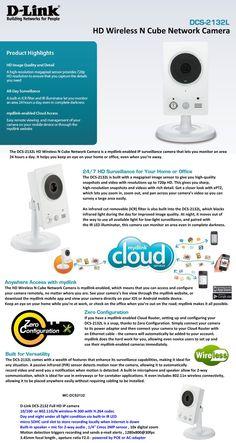 D-Link DCS-2132L HD Wireless N Cube Network Camera