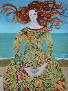 dee-nickerson-sea-maiden-3-painting-2015-42x30cm