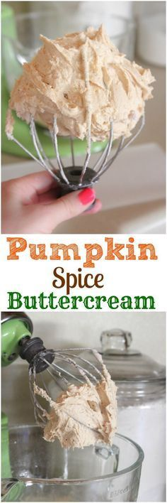 Pumpkin Spice Buttercream, perfect for all of your Fall Baking!!
