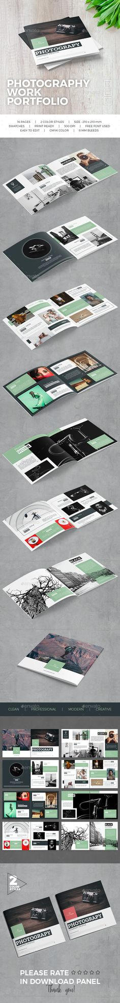Photography Work Portfolio Brochure Template InDesign INDD