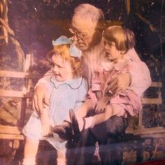 Vintage Family Photograph Children and Grandpa by MrFilthyRotten, $10.00
