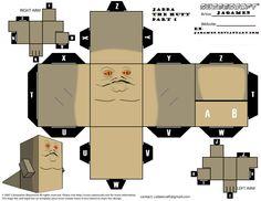 PaperToy_Star Wars - Jabba The Hatt 1A