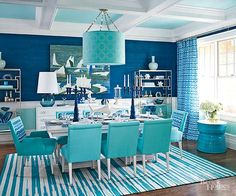 Make your home fabulous with pops of color that will make your home fun and vibrant. Get inspired and motivated to paint your home in your favorite colors. These colorful rooms will give you some ideas of all the gorgeous ways to use color in your home.