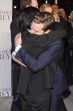 JAMIE DORNAN, Actor :: now THAT is a hug