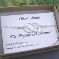 Bridesmaid gift, wedding jewelry, sterling silver infinity love necklace, bridal gift for mother of bride, bridesmaid, friend, sister .. n30