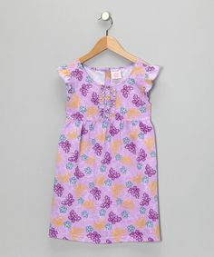 Another great find on #zulily! Purple Butterfly Dress - Girls #zulilyfinds