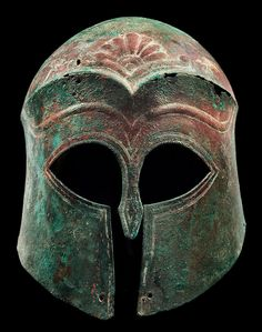 Archaic Corinthian Bronze Helmet, c. 6th Century... at Ancient & Medieval History