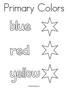 Color the stars blue, red, and yellow Coloring Page