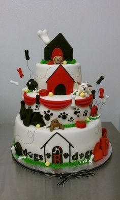 Dog theme Grand Opening Celebration Cake by Little Sugar Bake Shop, via Flickr