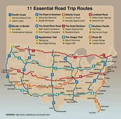 11 essential road trips. Looks like a couple were missed??