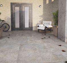 Ambiente revestido com o porcelanato Aran Griggio - 61x61 cm - PEI 4