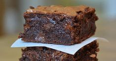 Make classic chocolate brownies with this easy recipe, perfect for everyday baking and occasions. Find more cake recipes at BBC Good Food. Chocolate Brownies, Chocolate Desserts, Easy Brownies, Chocolate Chips, Bbc Good Food Recipes, Sweet Recipes, Baking Recipes, Brownie Recipes, Cookie Recipes
