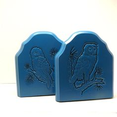 upcycled owl bookends