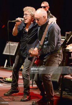 Roger Daltrey and Pete Townshend perform onstage at WHO Cares About The Next Generation at a private residence on May 31, 2016 in Pacific Palisades City.