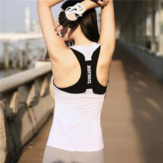 FuzWeb:Professional Yoga Top Vest Sleeveless Sport Shirt Women Running Gym Shirt Women Sport Jerseys Fitness Yoga Shirt Tank Top,White / S