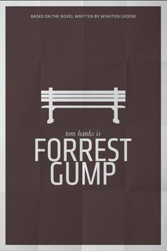 forest gump minimal poster