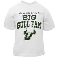 """I may be little but I'm a big Bulls fan"" toddler t-shirt. #USF"