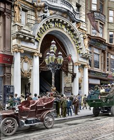 Shorpy Historic Picture Archive :: Keiths New Theatre (Colorized): 1907 high-resolution photo