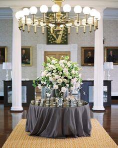 "See the ""Reception Decor"" in our Eva Amurri and Kyle Martino's Modern Slate Gray Destination Wedding in Charleston gallery"