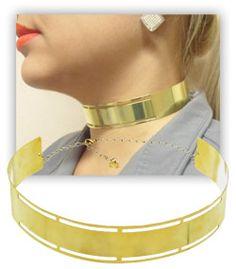 Anitta Folheados: Colar Choker folheado a ouro semelhante ao utilizado pela personagem Atena (A Regra do Jogo)