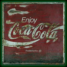 Coca Cola Green Grunge Sign Photograph  - Coca Cola Green Grunge Sign Fine Art Print