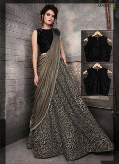 Shop For Indian Lehenga Choli at Utsav Fashion - The largest online collection of lehenga, ghagra, chaniya choli in latest stunning designs. Party Wear Indian Dresses, Gown Party Wear, Designer Party Wear Dresses, Indian Gowns Dresses, Dress Indian Style, Party Wear Lehenga, Indian Designer Outfits, Indian Wedding Dresses Traditional, Party Gowns
