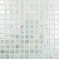 Mosaïque émaux de verre , blanc nacré pinceau par plaque de 30 cm- Achat mosaique salle de bain
