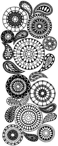 Doodle designs to paint on rocks.