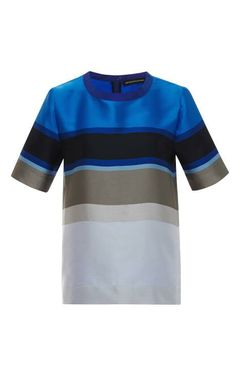 Striped Double-Face Top by Ostwald Helgason Now Available on Moda Operandi
