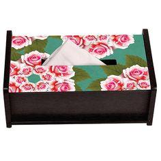 Kaleidoscope Flower Rose Tissue Box Holder by The Elephant Company