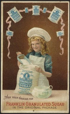 Ask your grocer for Franklin granulated sugar in the original package [front] by Boston Public Library, via Flickr