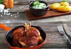 Pieczone udka z kurczaka z chrupiącą skórką Iron Pan, Pork, Meat, Cooking, Recipes, Kale Stir Fry, Beef, Kochen, Food Recipes