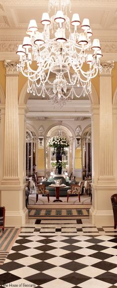 ~Claridge's is a 5-star iconic art deco luxury hotel in London dating back to 1856.