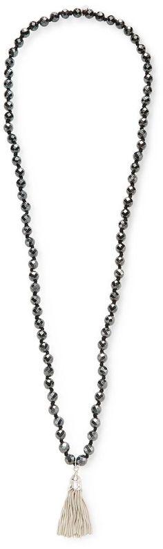 Good Charma Women's Tassel & Hematite Pendant Necklace