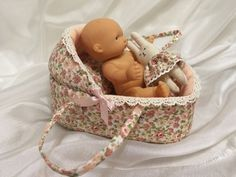 Small doll bassinet for 3-4 inches doll от AnnaToys на Etsy