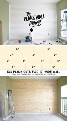 Our first plank wall project! It's been a lot of work, but it's all kinds of awe. - Home Design Inspiration Home Renovation, Home Remodeling, Dining Area Design, Do It Yourself Decoration, Diy Spring, Plank Walls, Plank Wall Bedroom, Wood Walls, Ship Lap Walls