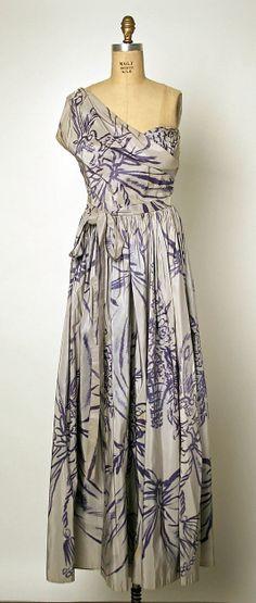 Dress  Gilbert Adrian (American, 1903–1959)  Date: ca. 1952