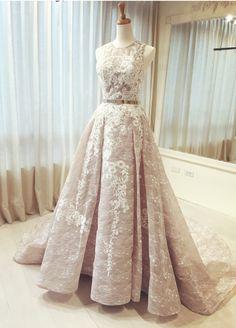 Modern Wedding Dress Prom Dress (Metal Belt Unavailable)