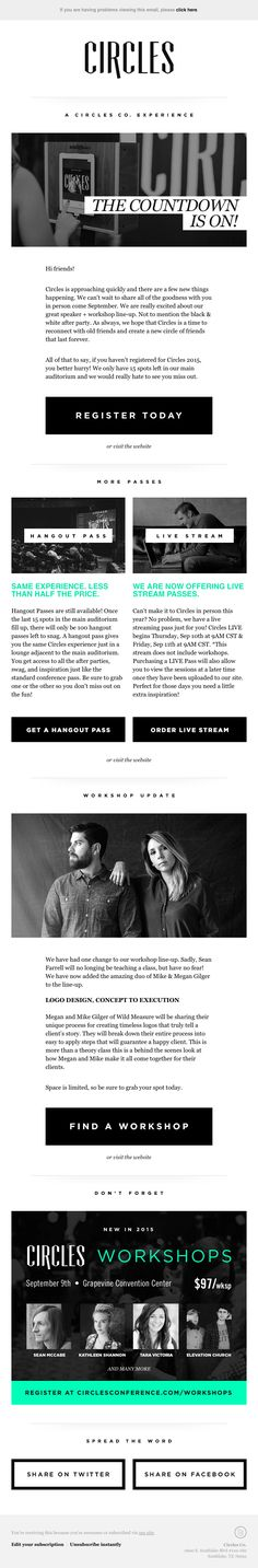The Best Email Designs in the Universe (that came into my inbox) Group Mail, Html Email Design, Email Marketing, Digital Marketing, Email Layout, Best Email, Ecommerce, Typography, Big Black